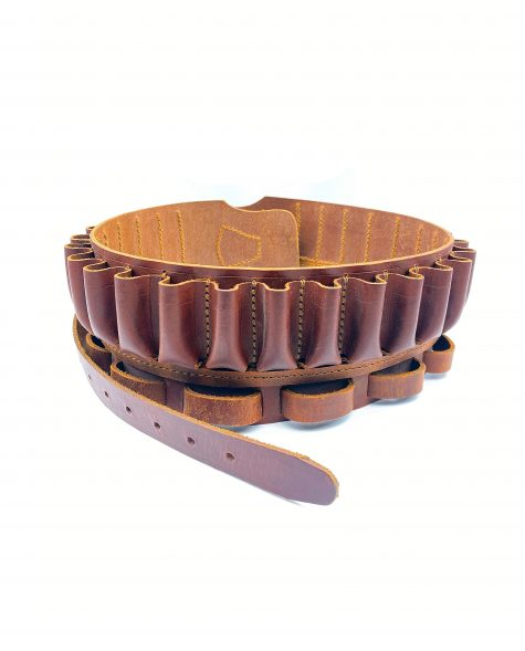 Canana 25 cartuchos marrón con perdicera