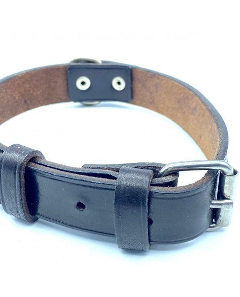 Collar para perro color chocolate